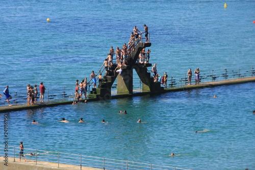 La mer le plongeoir et la piscine de pascal06 photo libre for Plongeoir de piscine