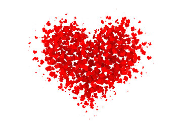 Heart made of Hearts Red
