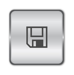 Save chrome button vector
