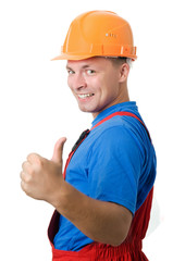 Positive builder worker
