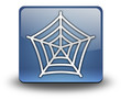 "3D Effect Icon ""Spider Web Symbol"""