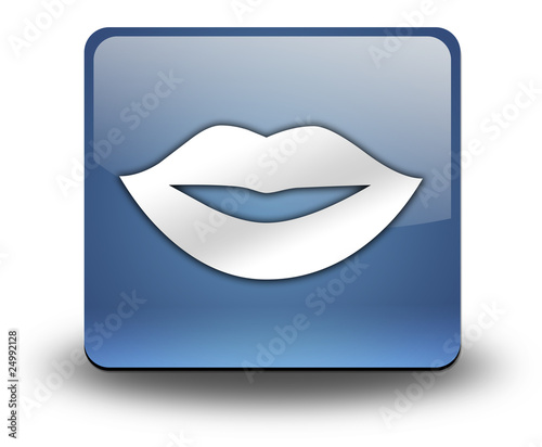 "3D Effect Icon ""Mouth / Lips Symbol"""
