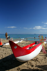 Stock image of Waikiki Beach, Honolulu, Oahu, Hawaii..