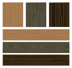 Vector wooden materials collection
