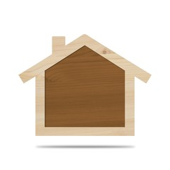 Pyrogravure - Maison bois vide