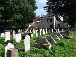 The Remuh  a Jewish Cemetery in Krakow, Poland