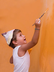 bambino che pittura
