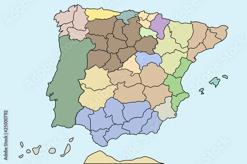 Mapa Autonomico España