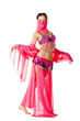 portrait of a beautiful belly dancer