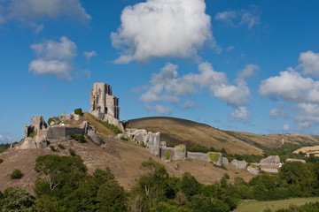 Corfe Castle, Ruine in Südengland