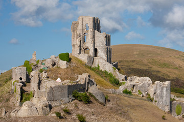 Burgruine Corfe Castle in Südengland