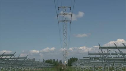 Building of solar powerplant