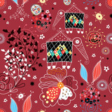 The texture of the fall patterns and fabulous creatures poster