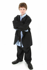 Boy in Baggy Suit