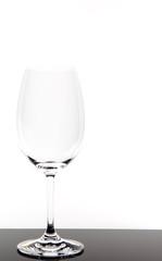 leeres Glas Rotwein