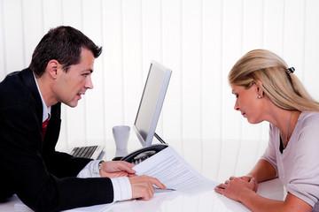 Gespräch bei einer Beratung
