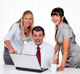Erfolgreiches Team bei Meeting