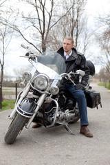 stylish biker
