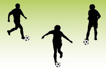 three soccer players black version