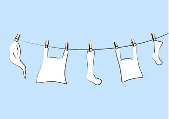 weisse Wäsche