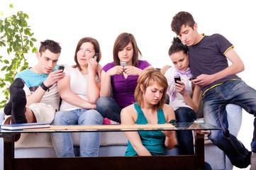 teenagers - mobile mania