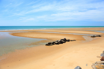 Beautiful golden send beach in Thailand