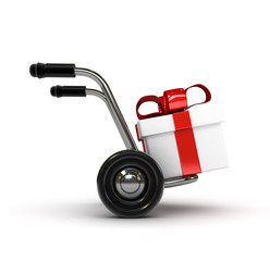 3d barrow with gift
