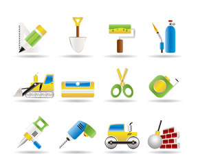 building and construction icons - vector icon set 2