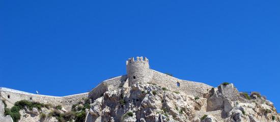 Tower of Abbey cloister in San Nicola Island (Tremiti, Italy)