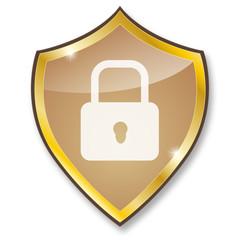 safety shield - gold