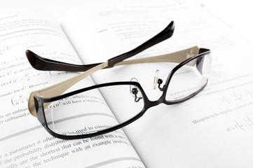Glasses on Mathematics Book