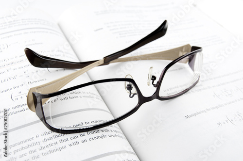 Glasses on Mathematics Book