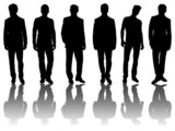 6 silhouettes of men /3