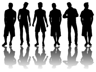 6 silhouettes of men /5