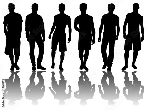 6 silhouettes of men /4