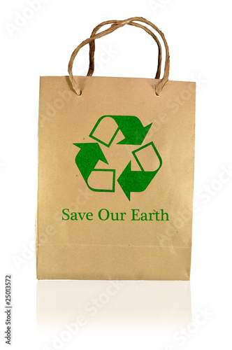 Save earth paper bag