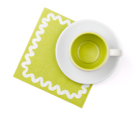 Empty cup on placemat