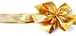 noeuds doré décoration emballage cadeaux, fond blanc