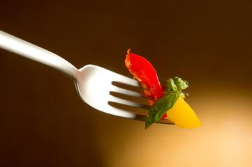 fork with preserved pepper- forchetta con peperoni
