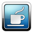 "Glossy Square Icon ""Cafeteria / Hot Beverage"""