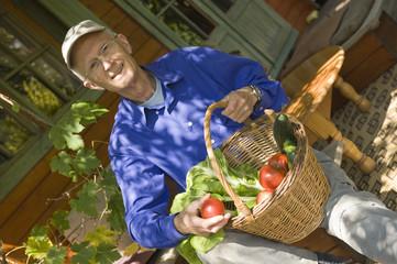 Le panier de légumes bios