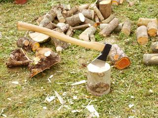 ax and wood