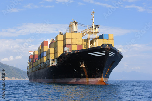 canvas print picture container ship