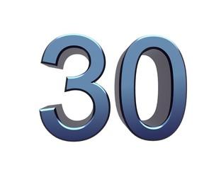 Zahl 30