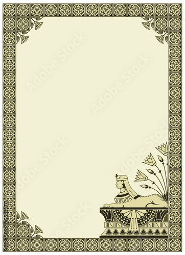 vector background on the theme of Ancient Egypt