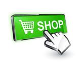 bouton boutique shop curseur main poster