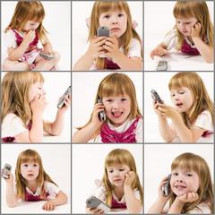 little girl composite
