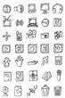 hand draw business icon collection