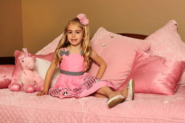 Princess Child in Designer Bedroom