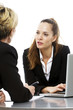 two women during a business meeting with laptop